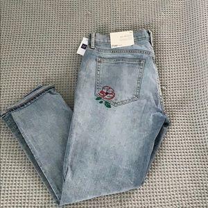 Gap Embroidered Best Girfriend Jeans